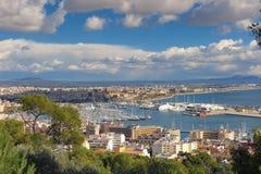 Vista a Palma de Mallorca Imágenes de archivo libres de regalías