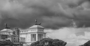 Vista panaramic dell'altare di patria Immagini Stock Libere da Diritti