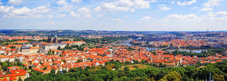 Vista panorámica aérea de Praga imagen de archivo libre de regalías