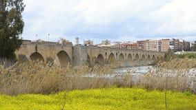 Vista panorámica de Badajoz, Extremadura almacen de metraje de vídeo