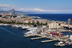 Vista panorámica de Barcelona Fotos de archivo