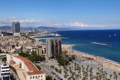 Vista panorámica de Barcelona Foto de archivo libre de regalías