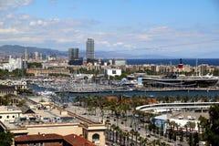 Vista panorámica de Barcelona Fotos de archivo libres de regalías