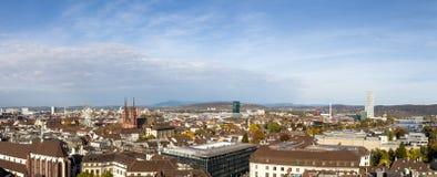 Vista panorámica de Basilea, Suiza fotografía de archivo libre de regalías