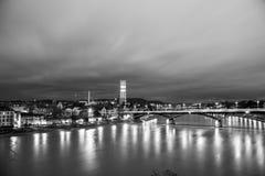 Vista panorámica de Basilea, Suiza imagen de archivo libre de regalías