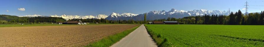 Vista panorámica de Berner Oberland Foto de archivo libre de regalías