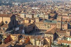 Vista panorámica de Bolonia, Italia Foto de archivo