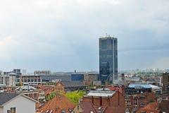 Vista panorámica de Bruselas del lugar Poelaert Foto de archivo