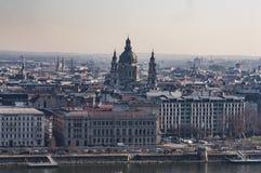 Vista panorámica de Budapest céntrica Fotografía de archivo