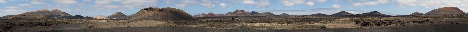 Vista panorámica de Canarias de Lanzarote del campo volcánico Imagenes de archivo
