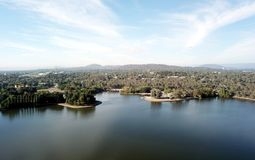 Vista panorámica de Canberra Australia en d3ia fotos de archivo libres de regalías