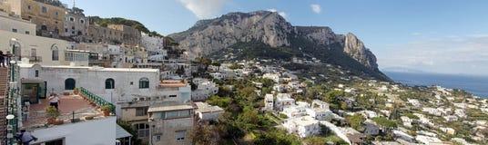 Vista panorámica de Capri Imagen de archivo