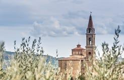 Vista panorámica de Castiglion Fiorentino Fotos de archivo