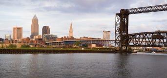 Vista panorámica de Cleveland céntrica Fotos de archivo