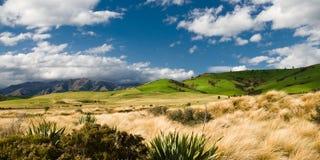 Vista panorámica de colinas en los catlins Fotos de archivo libres de regalías