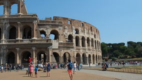 Vista panorámica de Colosseum en Roma, Italia metrajes