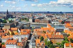 Vista panorámica de Copenhague Imagen de archivo