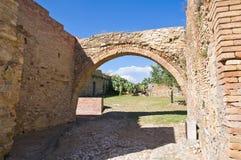 Vista panorámica de Craco Basilicata Italia Fotos de archivo