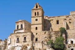 Vista panorámica de Craco Basilicata Italia Fotografía de archivo libre de regalías