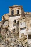 Vista panorámica de Craco Basilicata Italia Foto de archivo