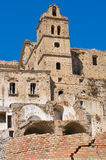 Vista panorámica de Craco Basilicata Italia Imagen de archivo