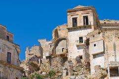Vista panorámica de Craco Basilicata Italia Foto de archivo libre de regalías