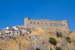 Vista panorámica de Deliceto. Puglia. Italia. imágenes de archivo libres de regalías