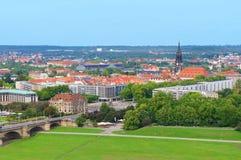 Vista panorámica de Dresden Imagenes de archivo