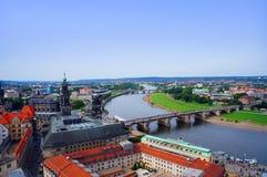 Vista panorámica de Dresden Imagen de archivo libre de regalías