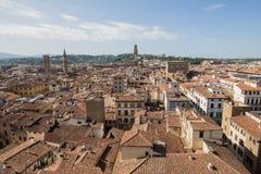 Vista panorámica de Florencia Fotos de archivo libres de regalías