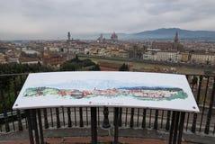 Vista panorámica de Florencia de Piazzale Miguel Ángel foto de archivo libre de regalías