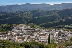 Vista panorámica de Frigiliana, Andalucía, España Fotografía de archivo libre de regalías