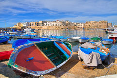 Vista panorámica de Gallipoli. Puglia. Italia. Foto de archivo