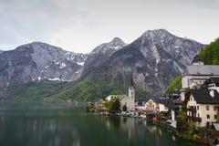 Vista panorámica de Hallstatt Fotos de archivo libres de regalías