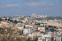 Vista panorámica de Jerusalén Imagen de archivo libre de regalías