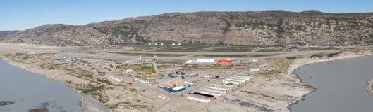 Vista panorámica de Kangerlussuaq, Groenlandia imagen de archivo