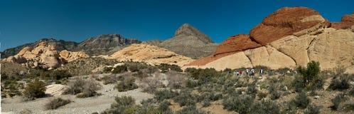 Vista panorámica de la barranca roja de la roca, Nevada Fotos de archivo