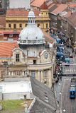 Vista panorámica de la calle de Ilica en Zagreb Foto de archivo libre de regalías
