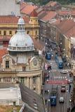 Vista panorámica de la calle de Ilica en Zagreb Imagenes de archivo