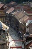 Vista panorámica de la calle de Ilica en Zagreb Fotos de archivo
