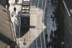 Vista panorámica de la calle de Ilica en Zagreb Imágenes de archivo libres de regalías