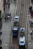 Vista panorámica de la calle de Ilica en Zagreb Imagen de archivo