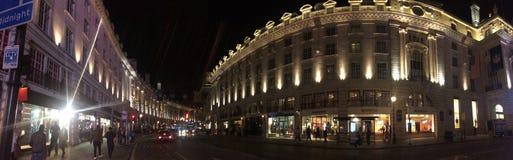 Vista panorámica de la calle regente Imágenes de archivo libres de regalías