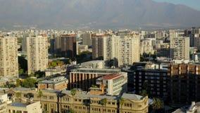 Vista panorámica de la capital chilena, Santiago Chile, metrajes