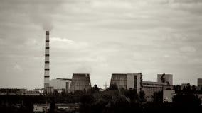 Vista panorámica de la central eléctrica almacen de metraje de vídeo