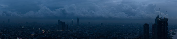 Vista panorámica de la ciudad de Bangkok Imagen de archivo libre de regalías