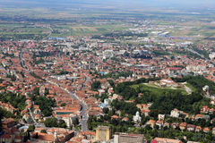 Vista panorámica de la ciudad de Brasov Fotografía de archivo libre de regalías