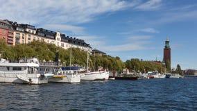 Vista panorámica de la ciudad de Estocolmo Imágenes de archivo libres de regalías