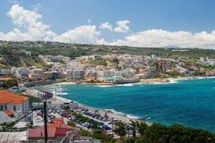 Vista panorámica de la ciudad de Rethymno Fotos de archivo libres de regalías