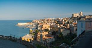 Vista panorámica de la ciudad del gaeta Foto de archivo libre de regalías